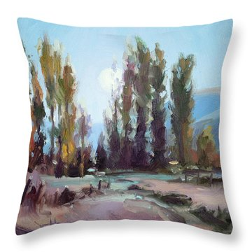 September Moon Throw Pillow