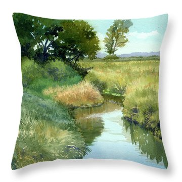 September Morning, Allen Creek Throw Pillow