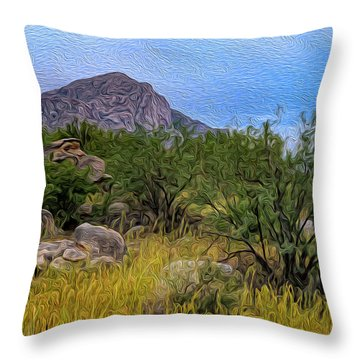 Throw Pillow featuring the photograph September Oasis No.2 by Mark Myhaver