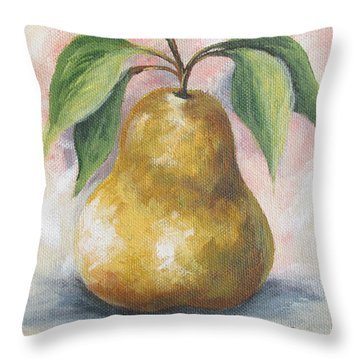 September Pear I  Throw Pillow