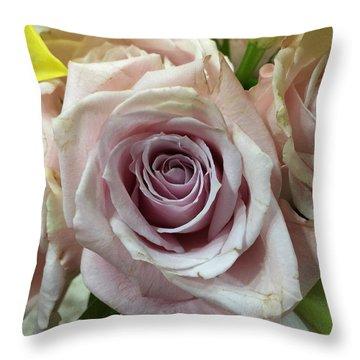 September Rose Throw Pillow by Russell Keating