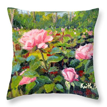September Roses Throw Pillow by Keith Burgess