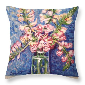 Throw Pillow featuring the painting September Snaps by Laura Aceto