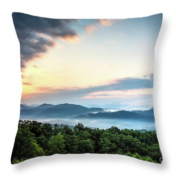 Throw Pillow featuring the photograph September Sunrise by Douglas Stucky