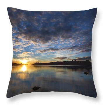 September Sunset Throw Pillow