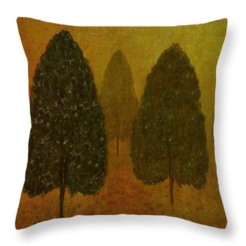 September Trees  Throw Pillow by David Dehner