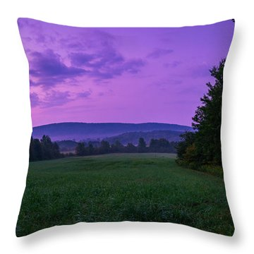 Throw Pillow featuring the photograph September Twilight by Chris Bordeleau