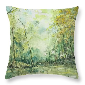 September's Silence  Throw Pillow