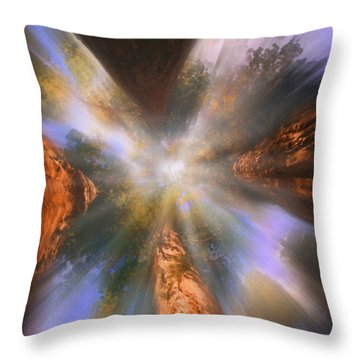 Sequoia Throw Pillow by Robby Donaghey