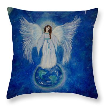 Seraphina Throw Pillow by The Art With A Heart By Charlotte Phillips