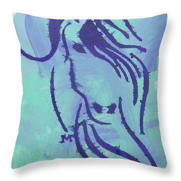 Throw Pillow featuring the painting Serena by Candace Shrope