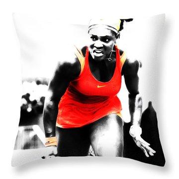 Serena Williams Go Get It Throw Pillow