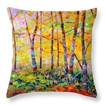 Serenade Of Forest Throw Pillow
