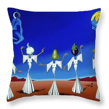 Serenade Of The Sisters Throw Pillow