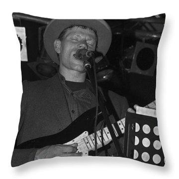 Serenading Guitar Man Throw Pillow