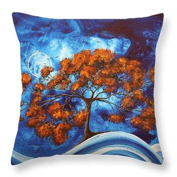 Serendipitous Original Madart Painting Throw Pillow by Megan Duncanson
