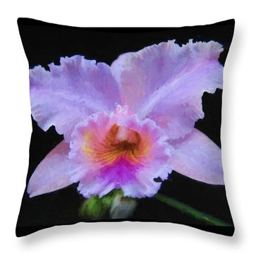 Serendipity Orchid Throw Pillow