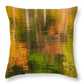 Serene Autumn Reflection Throw Pillow