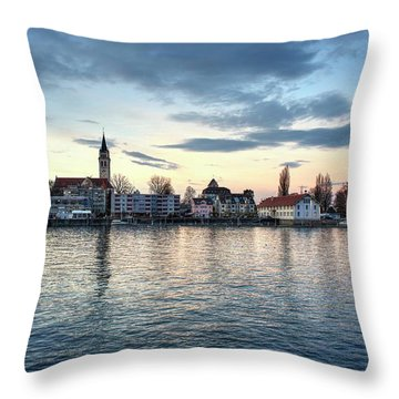 Throw Pillow featuring the photograph Serene Blue Hour by Quality HDR Photography