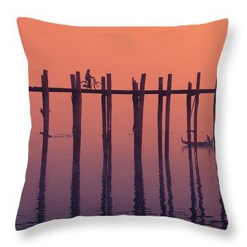 Serene Dawn Throw Pillow by Marji Lang