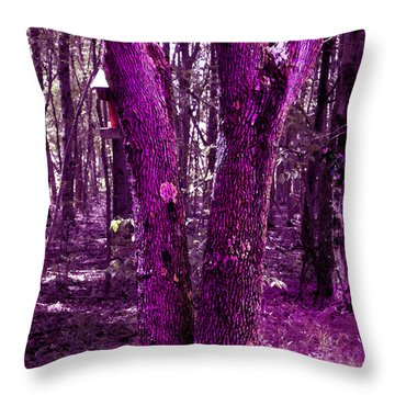 Throw Pillow featuring the photograph Serene In Purple by Michelle Audas