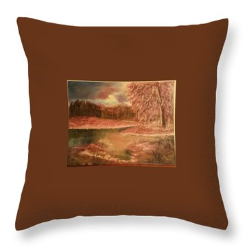 Serene Lake  Throw Pillow