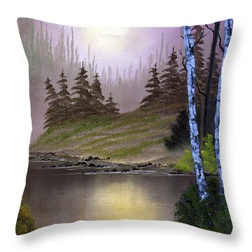 Serene Nightscape Throw Pillow by Dee Flouton