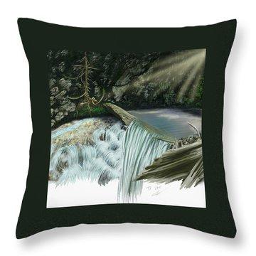 Serene Oasis Of Stagger Inn Throw Pillow