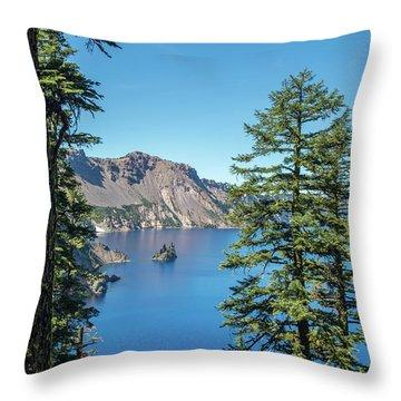 Serene Pines Throw Pillow