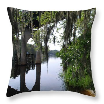 Serene River Throw Pillow by Gordon Mooneyhan