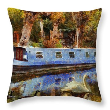 Serene Scene Throw Pillow