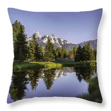 Serene Schwabachers Throw Pillow