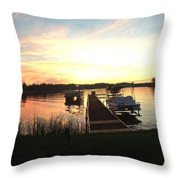 Serene Sunset Throw Pillow