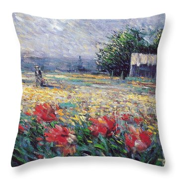 Throw Pillow featuring the painting Serenety by Rosario Piazza