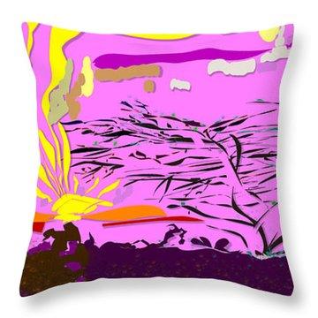 Serengeti  Throw Pillow by Angela A Stanton