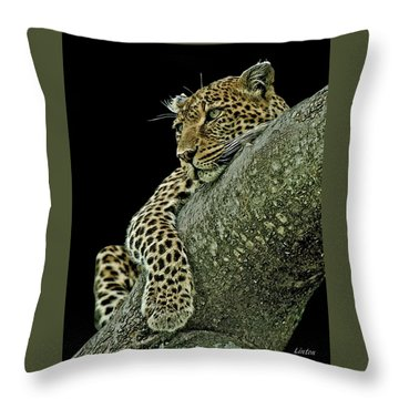 Serengeti Leopard 2a Throw Pillow