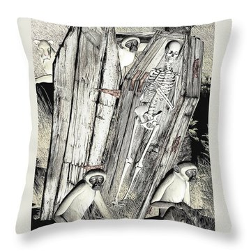 Serengeti Scavengers Throw Pillow