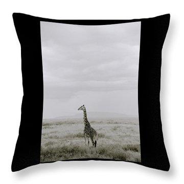 Serengeti Solitude Throw Pillow by Shaun Higson
