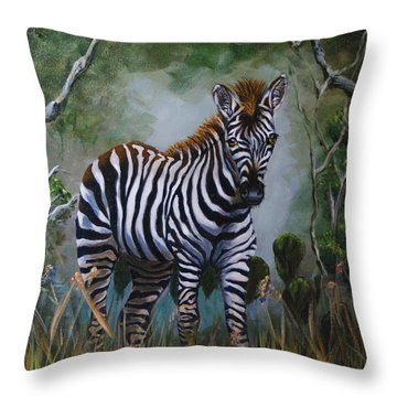 Serengeti Zebra Throw Pillow