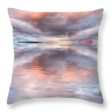 Serenity And Peace Throw Pillow by Jerry McElroy