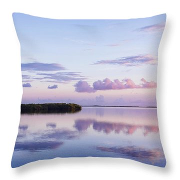 Throw Pillow featuring the photograph Serenity At Sunrise by Louise Lindsay