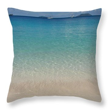 Serenity At Trunk Bay  Throw Pillow by Margaret Bobb