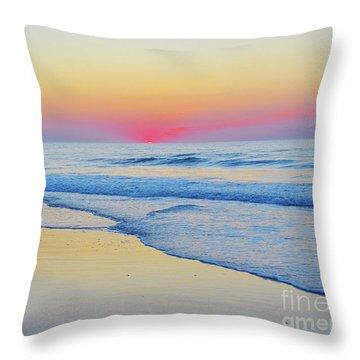 Serenity Beach Sunrise Throw Pillow