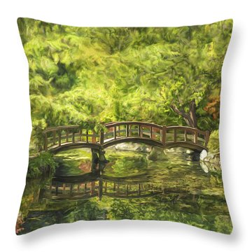 Serenity Bridge Throw Pillow
