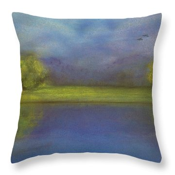 Serenity By The Water Throw Pillow