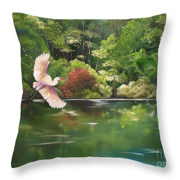 Serenity Throw Pillow by Carol Sweetwood