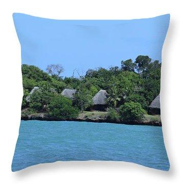Serenity - Chale Island Kenya Africa Throw Pillow