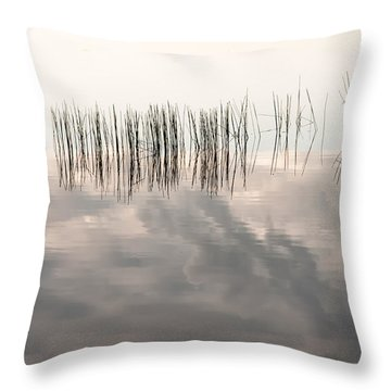 Serenity Dwells Here Where Tranquil Water Flow Cloaked  In Hues Of Love Throw Pillow