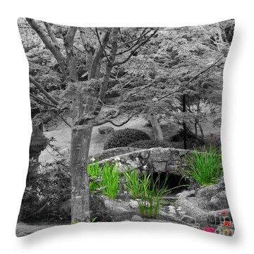 Serenity In Black And White Throw Pillow