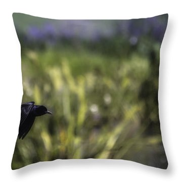 Serenity In The Marshes Throw Pillow